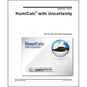 HumiCalc with Uncertainty Validation Document